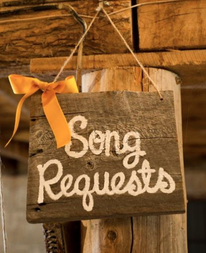 During the party, ask guests to submit song requests for the reception. Then curate the perfect playlist for your DJ. | Community Post: 30 Swoon-Worthy Engagement Party Ideas