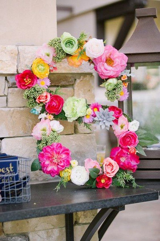 Wedding monogram colorful wedding decor / http://www.himisspuff.com/colorful-mexican-festive-wedding-ideas/10/