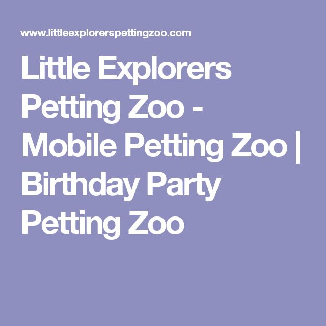Little Explorers Petting Zoo - Mobile Petting Zoo  | Birthday Party Petting Zoo