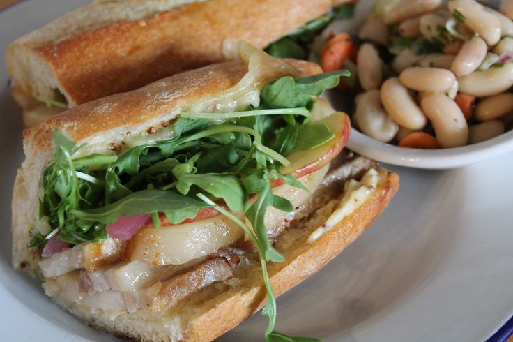Daily Special 11.9.17: Pork Belly Baguette - Cider Braised Polyface Pork Belly, Swiss, Honey, Pickled Stayman Apples, Pickled Red Onions, Arugula on Baguette