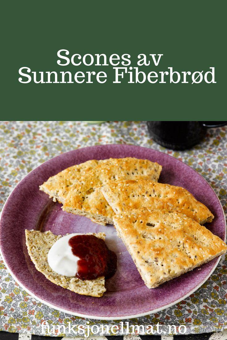 Scones av Sunnere Fiberbrød - Funksjonell Mat | Sunne oppskrifter | Nyttig mat | Sunn snacks | Oppskrift lunsj | Frokost ideer | Fiberrikt brød | Grovt brød | Eltefritt brød