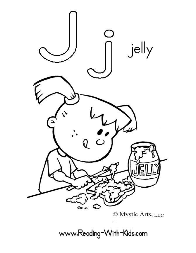 letter j coloring sheet