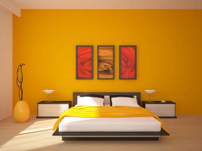 Фото желтой спальни