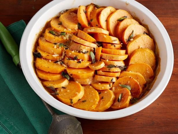 Get Spicy Sweet Potato Casserole Recipe from Food Network