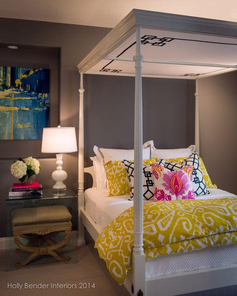 sumptuous trina turk bedding in bedroom with yellow and orange next to trina turk bedding - Trina Turk Bedding