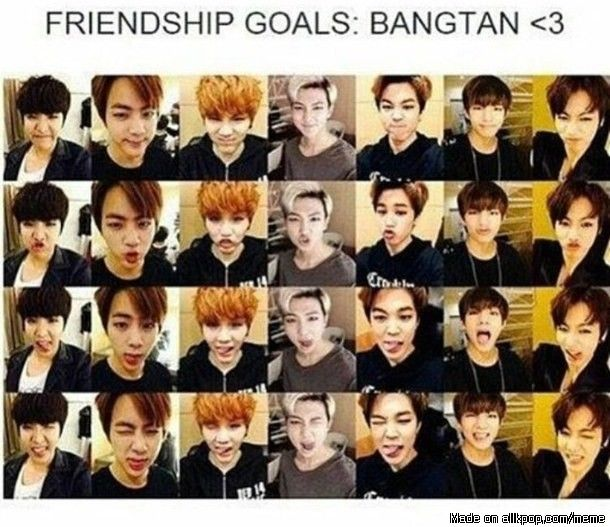 my friends and i have dun this by accident when we were taking a pic lol we are bangtan