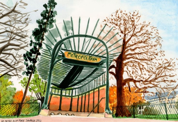 Bouche de métro - Porte Dauphine
