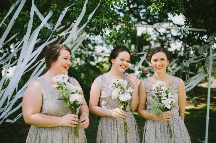 Stunning Bridesmaids & their Bouquets