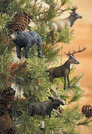 LOVE these ornaments!!...for a wildlife christmas tree!