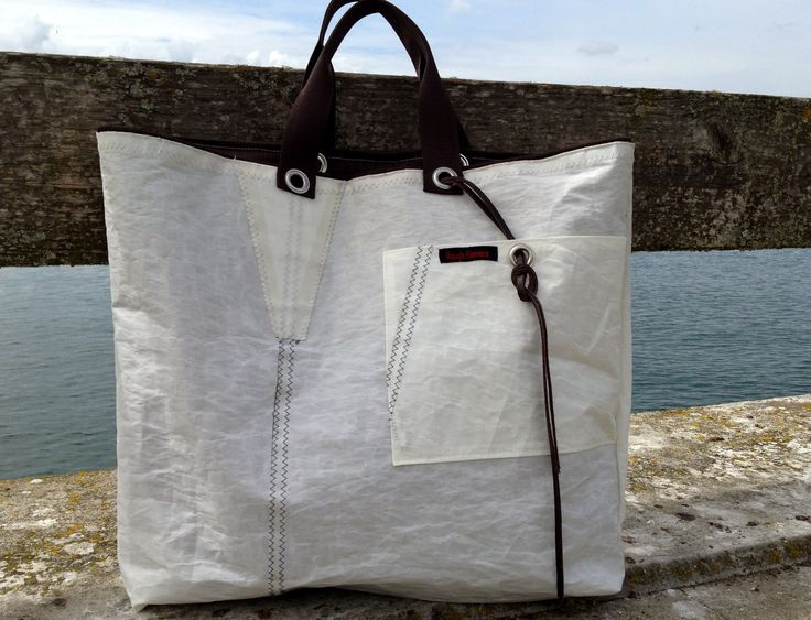"Big sail bag ""two in one"" of recycled sailcloth by Rough Element http://RoughElement.dawanda.com www.etsy.com"