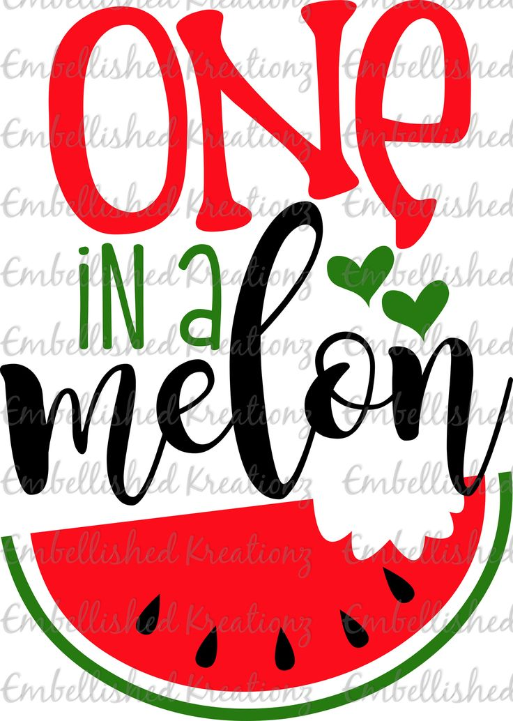 Watermelon/'One in a Melon' with Watermelon/Hearts Vinyl OR HTV Decal/Baby Photos/Tumbler/Cup/Watermelon Girl DIY Shirt/Onesie/Mother's Day by EmbellisheDKreationz on Etsy