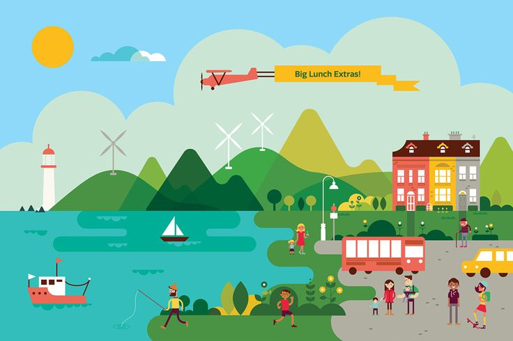 Illustration by Parko Polo and Believe In for Eden Project's Big Lunch Extras