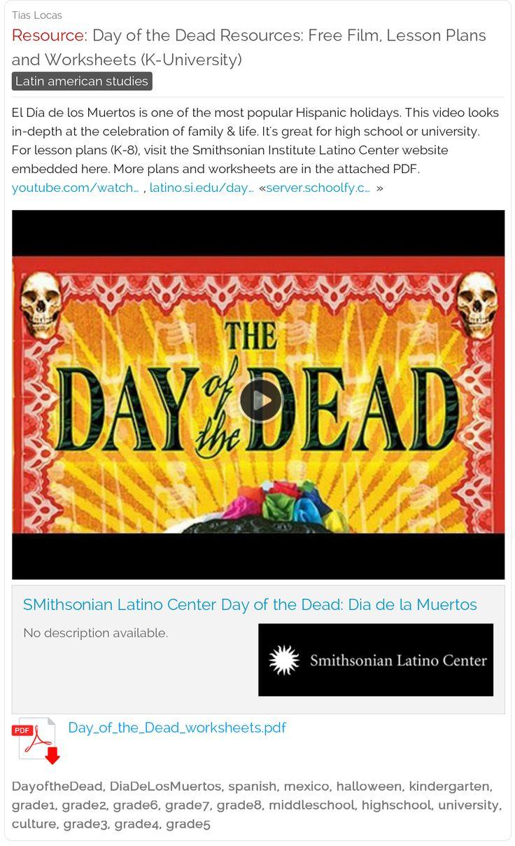 Uncategorized Day Of The Dead Worksheets 43 best de los muertos images on pinterest free day of the dead resources film lesson plans and worksheets kindergarten through