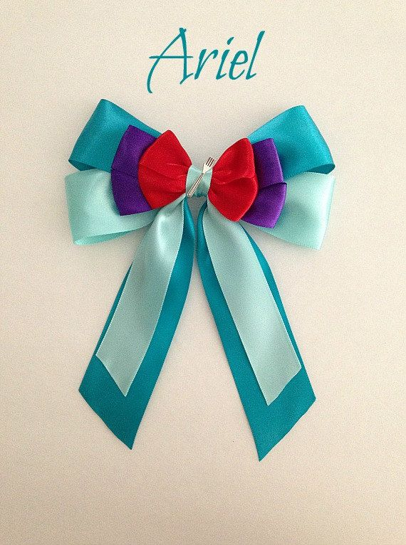 Disney inspired Ariel princess hair bow with by BellaRayneDesigns