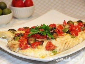 Pesce Persico con Pomodorini e Olive