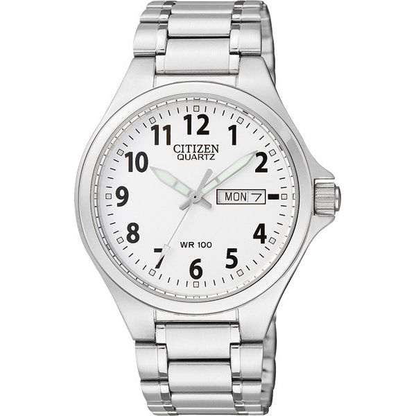 WATCH SST WHITE FACE BOLD NUMBERS D/D WR 100M WORKWATCH 40MM - Jons Family Jewellers