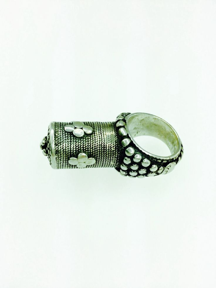 Silver vintage tribal ring