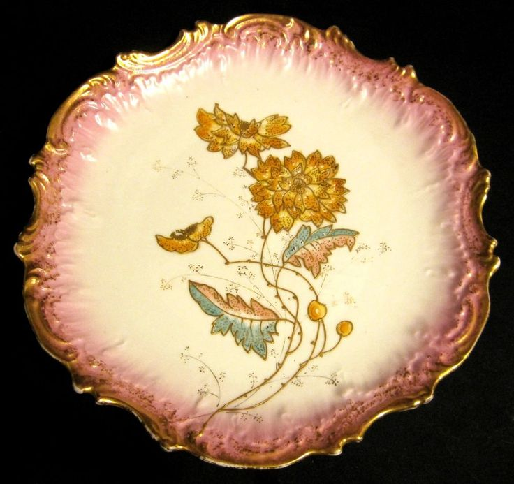 Antique Victorian Ornate Scallop Coiffe Limoges Display Plate Charger 1891-1914 #CoiffeLimoges #VictorianArtnouveauelegantlavishheavygold