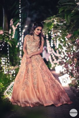 Bangalore Weddings Reception Gown For Bride Bride Reception