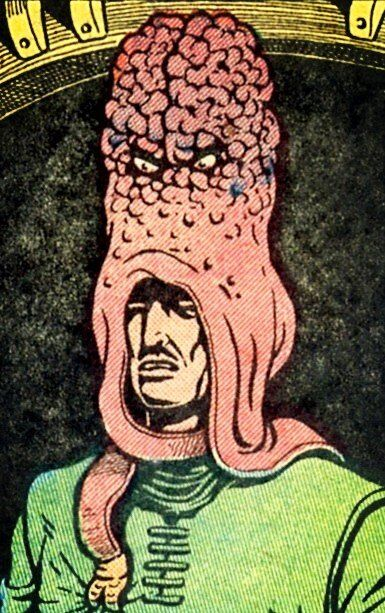 "Basil Wolverton...""Brain Bats of Venus"" I'm not sure where the ""bat"" part is, but It's still very cool & weird!"