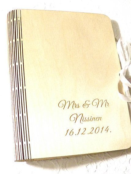 Personalized Photo Album Wedding Photo Album by latwoodyworld