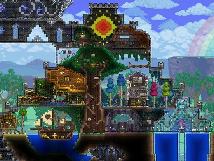 Building A Large Theme Biome Castle Terraria House Ideas