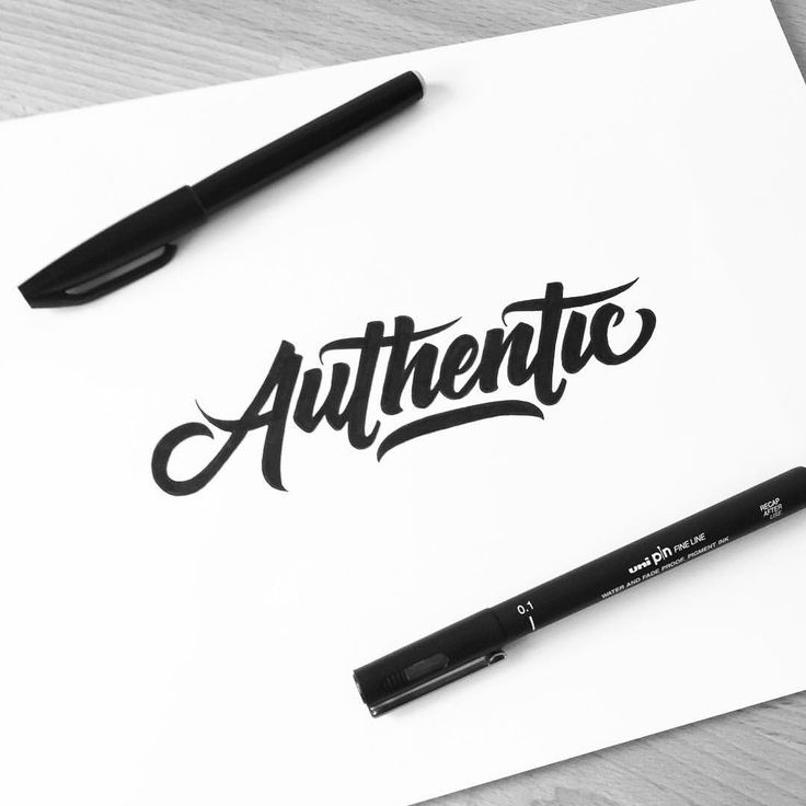 Authentic! I really like this word and the way it flows! #customtype #customlettering #customtypography #type #typism #typegang #typography #typematters #thedailytype #goodtype #letters #lettering #letteringdesign #handtype #handdrawn #handletter #handmadefont #handdrawntype #font #script #sketch #drawing #pen #ink #illustrated #illustration #design #thefinelab #todaystype