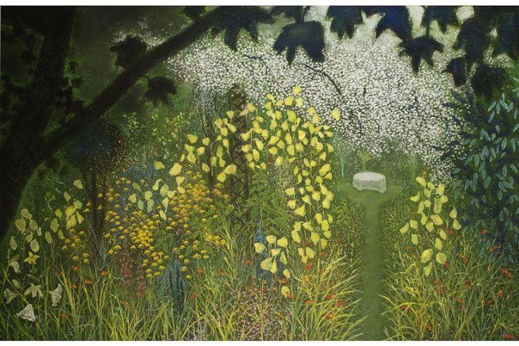 """Garden with Evening Primrose"" by Richard Cartwright (pastel)"
