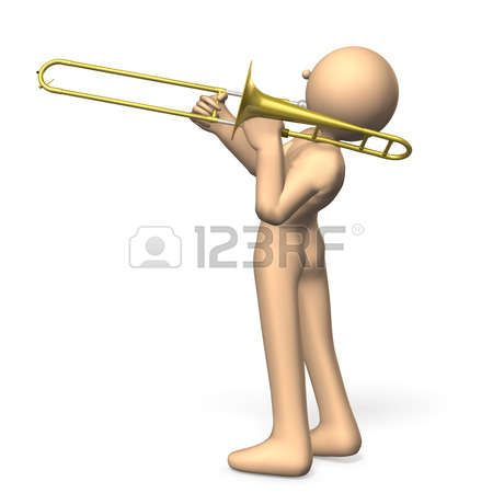 cool: Solo player to play the trombone cool Stock Photo