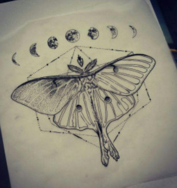 Pin by Ashley Strickland on Skin Art | Luna moth tattoo ...