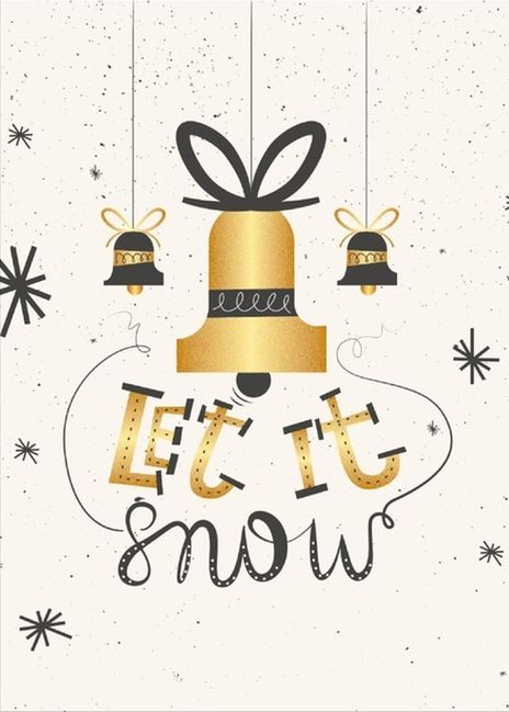 We love this beautiful, elegant #Christmas card!  This is a real card (not an e-card).  Click to send a free card!