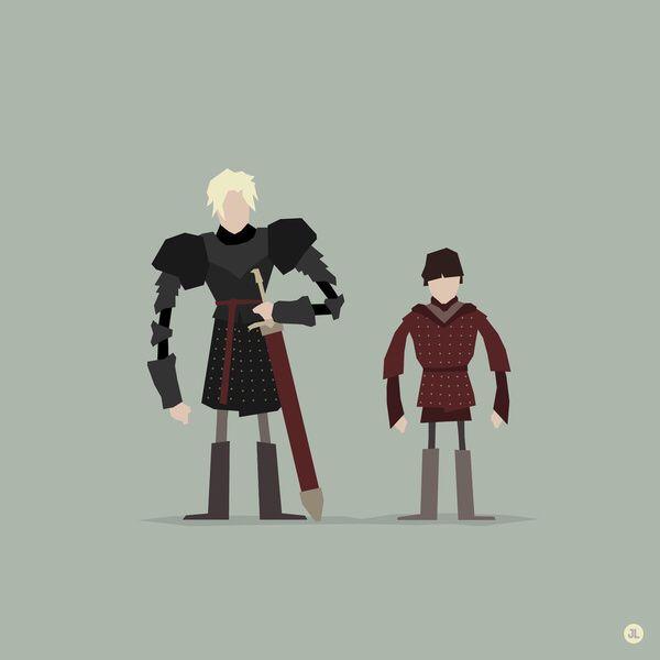 Brienne of Tarth & Podrick Payne (work created by www ...