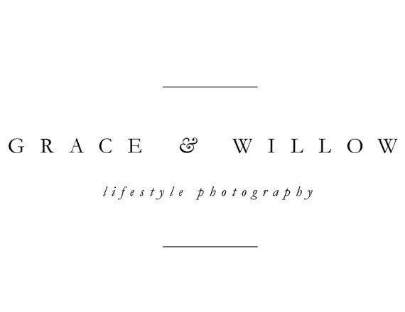 Fotografie-Logo, vorgefertigten Logo, Logo-Design, minimal Logo, einfaches Logo, Hipster-Logo, moderne Logo, Logo — Grace & Willow
