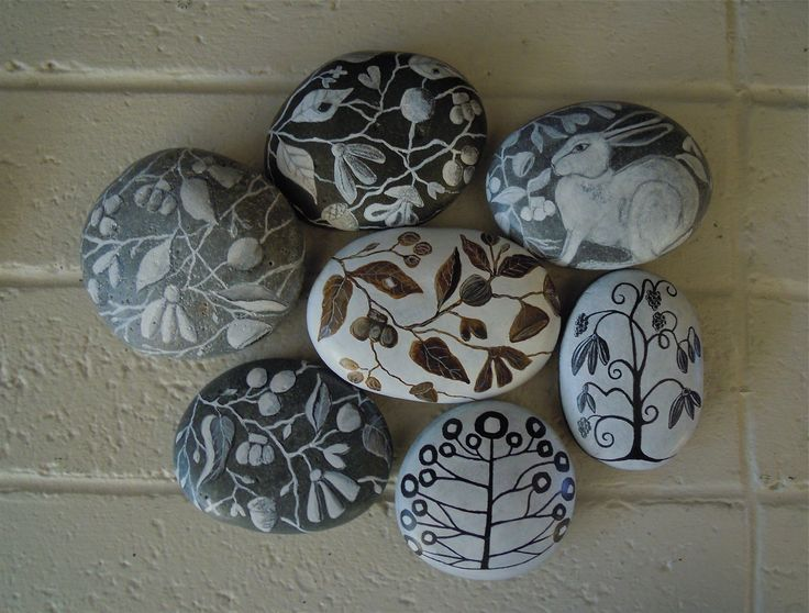 Rocks I painted: Paintings Pebble