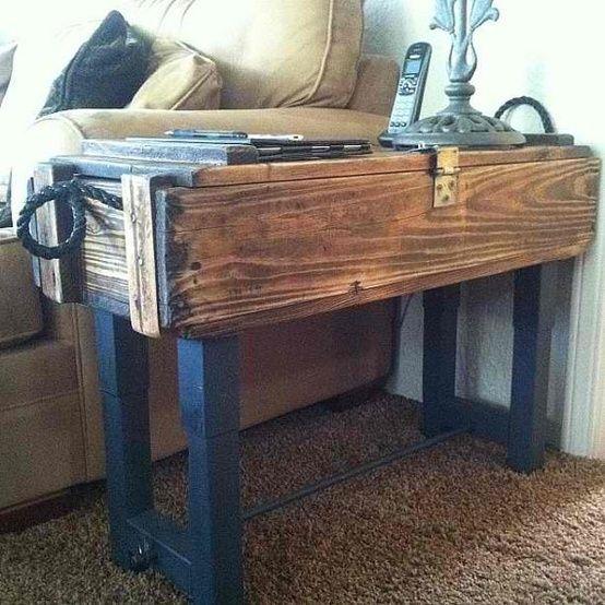 antique ammo box storage table by raquel & 25+ unique Ammo boxes ideas on Pinterest   Wine crates for sale ... Aboutintivar.Com