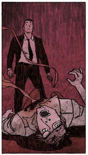 Flashback. (from ALOHA, HAWAIIAN DICK #4). Jake Wyatt art.