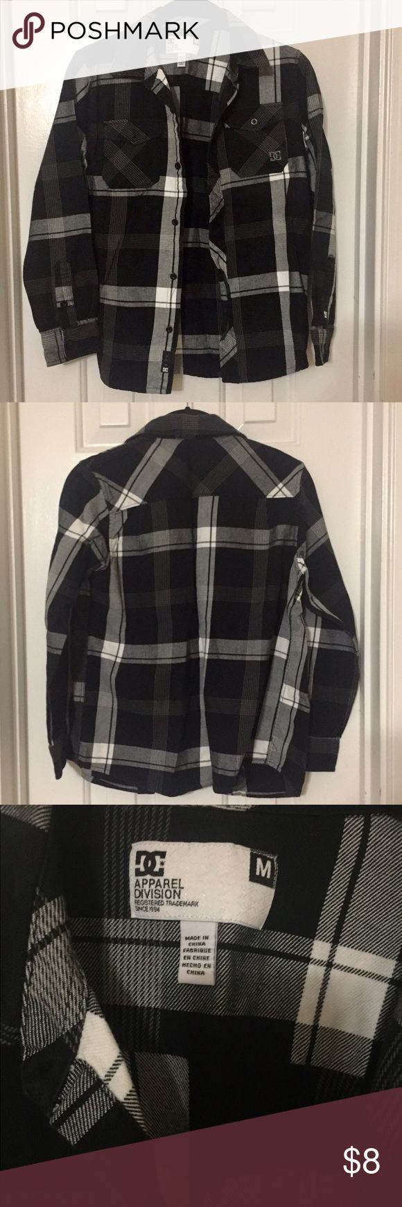 Youth Boys DC Button Up Flannel Shirt Medium DC shoe company shirt. Like new!!! Excellent condition. Worn only a couple of times, if that. Size Medium DC Shirts & Tops Button Down Shirts