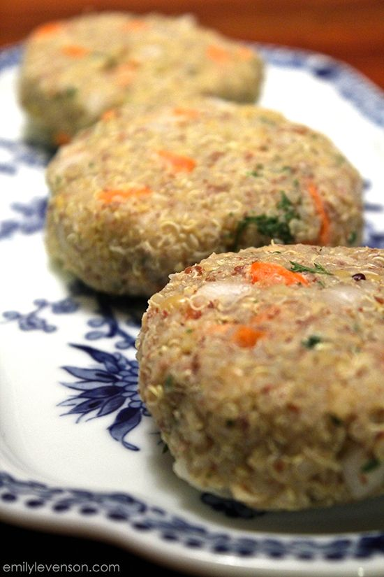 Quinoa vegan patties - Dairy Free, Gluten Free, Soy Free, Egg Free and Corn Free.