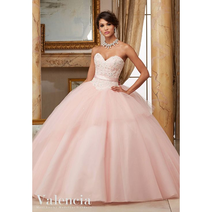 2017 New Sweetheart Quinceanera Dresses with Appliques Crystal Sequined Bow Sweet 16 Dresses Vestidos De 16 Party Gowns Q139