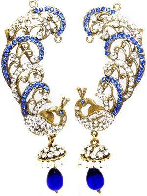 MKJewellers Peacock Ear Cuffs 6965 Brass Cuff Earring