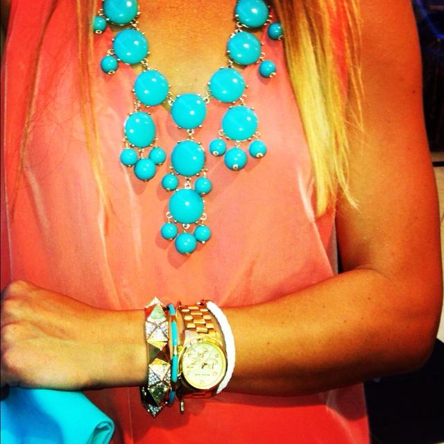 .: Bubble Necklace Just, Statement Necklaces, Summer Color, Turquoise Bubble Necklace, Bib Necklaces, Bubble Necklaces