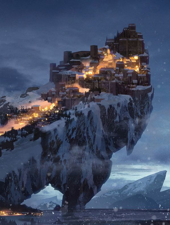 Fantasy Art Watch — Winter Keep by Bram Sels