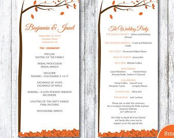 Autumn Leaves Wedding Song Request Card Template DIY