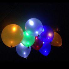 10 Unids Brillan En La Oscuridad del Cielo Linternas Flash Led Iluminado LED Globo Globos Globos Globos De Fiesta de Bodas y Cumpleaños decoración(China (Mainland))