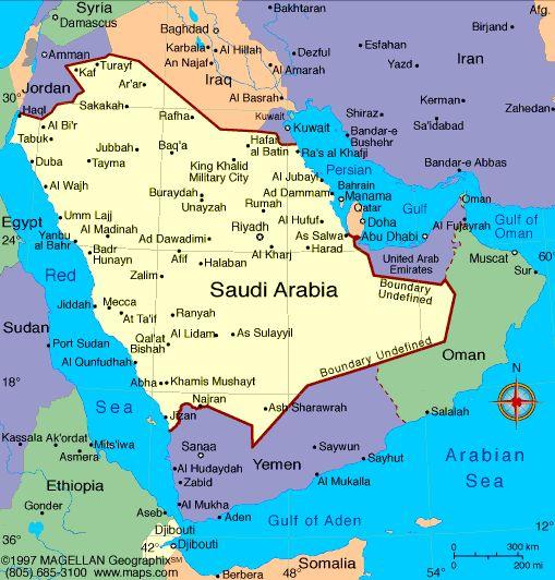 Saudi Arabia Atlas: Maps and Online Resources | Infoplease.com