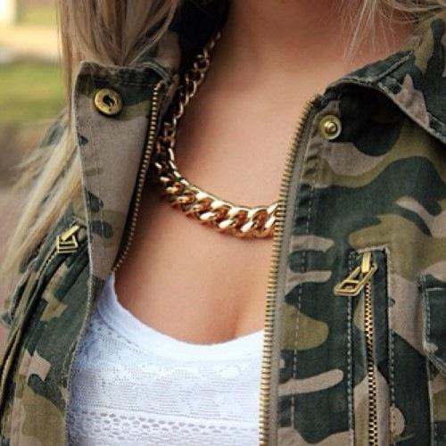 Amazing Necklace on amazing chest.