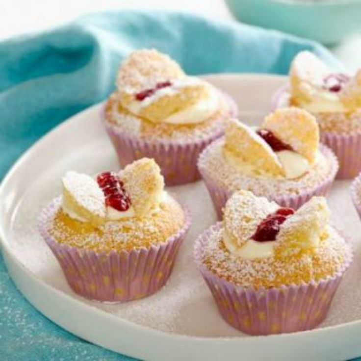 Surprise the family with these pretty yet simple Vanilla Butterfly Cupcakes.