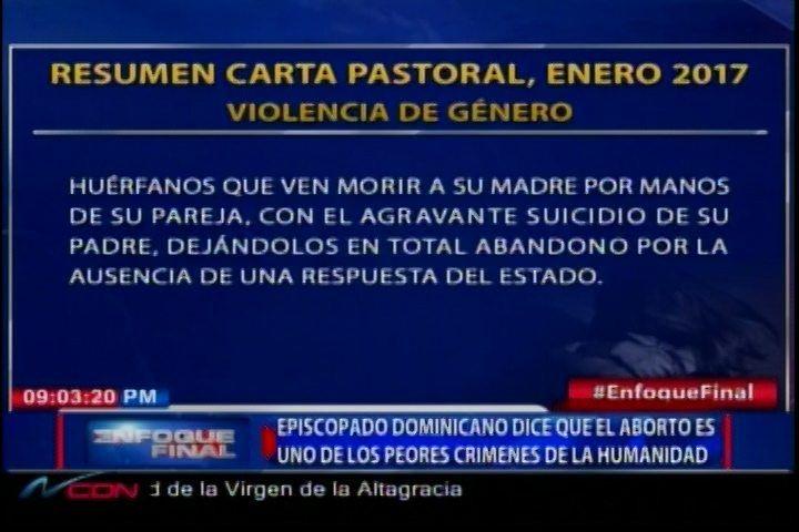 Episcopado Dominicano Dice Que El Aborto Es Uno De Los Peores Crímenes De La Humanidad