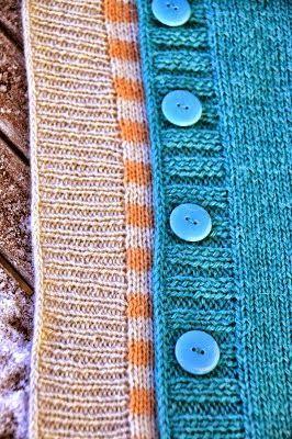 """Модели вязания: Закрытие петель краев и планок техникой """"i-cord"""" (полый шнур)"""