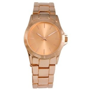 SIX Armbanduhr mit Metallarmband in der Farbe roségold und glänzend (38-898): Amazon.de: Uhren